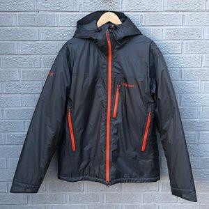 Marmot Men's Hooded Zip Front Gray Jacket